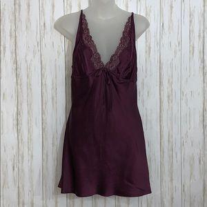Size S Victoria's Secret Silk Purple Chemise